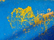 Blue and yellow texture royalty free stock images