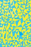 Blue and yellow. Triangle haves blue and yellow colora Royalty Free Stock Photo