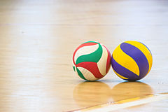 Blue and yellow volleyball Royalty Free Stock Photos