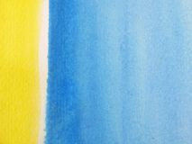 Blue & Yellow Watercolor Background 3 stock image