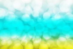 Blue yellow white bokeh. Wallpaper Stock Images