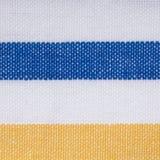 Blue yellow white striped textile background Stock Image