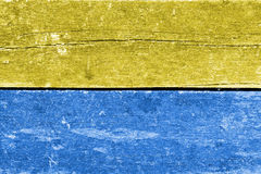 Blue and yellow wood background Royalty Free Stock Images