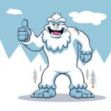 Blue yeti illustration. Vector cartoon Stock Images