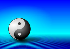 Blue ying yang background Royalty Free Stock Photos