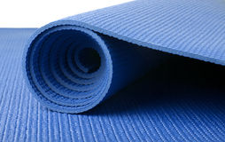 Blue Yoga Mat Royalty Free Stock Images