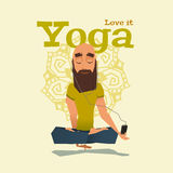 Blue Yoga pose skill vector illustration Royalty Free Stock Image