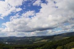 Blue yonder. Landscape, rhoen, nature, religion Royalty Free Stock Photo