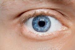 Blue young man eye macro Royalty Free Stock Images