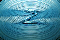 Blue z, abstract picture of packages Royalty Free Stock Photography