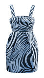 Blue zebra dress Royalty Free Stock Photography