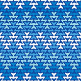 Blue Zigzag Stock Photography