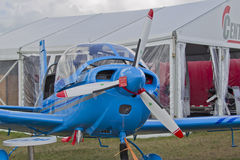 Blue Ziln Z242L Guru Plane Front View Stock Photos