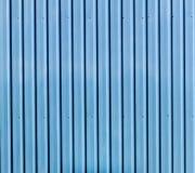 Blue zinc wall Stock Photo