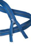 Blue zip Royalty Free Stock Photo