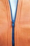 Blue zipper Royalty Free Stock Photography