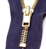 Blue zipper Stock Images