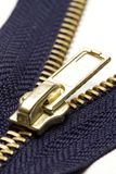 Blue zipper Stock Image
