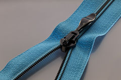 Blue zipper Stock Photo