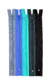 Blue zips/ zippers Royalty Free Stock Photography