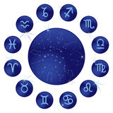 Blue zodiac Royalty Free Stock Photos