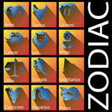 Blue zodiac and shadow Stock Photography