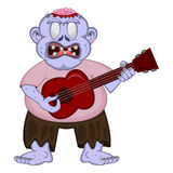 Blue Zombie People playing guitar Royalty Free Stock Photos