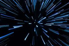 Blue zoom lights Stock Image