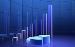 Blue3d graph Royalty Free Stock Photos