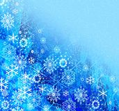bluebbackground snowflakes Στοκ Φωτογραφία