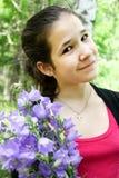 bluebell brigth kwitnie szczęśliwych dziewczyn potomstwa Obraz Royalty Free