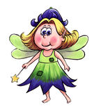 Bluebell Fairy. Hand painted illustration of a cute fairy character Stock Photography