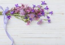 Bluebell flowers om  wooden background Stock Image