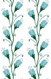 Bluebell Flowers Seamless Pattern Stock Images