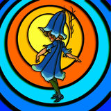 Bluebell kwiatu dziewczyna royalty ilustracja