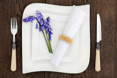 Bluebell Place Setting Royalty Free Stock Image
