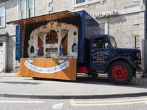 Bluebelle of Scotland mechanical organ vintage truck stock photos