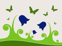 Bluebells et guindineaux Photographie stock libre de droits