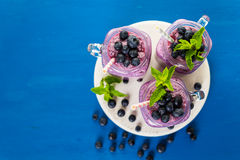 Blueberrie smoothie Zdjęcia Royalty Free