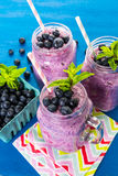 Blueberrie smoothie Obrazy Royalty Free
