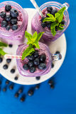 Blueberrie smoothie Obraz Stock