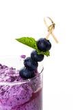 Blueberrie smoothie Zdjęcia Stock