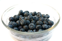 Blueberries. Bowl of blueberries Royalty Free Stock Image