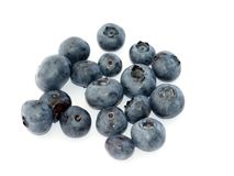 Blueberries. A few blueberries, isolated on white background royalty free stock photos