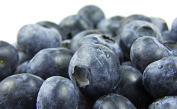 Blueberries. A handful of blueberries on a plate Stock Photo