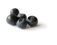 Blueberries. Isolated on white v Stock Photography