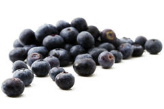 Blueberries. Some tasty blueberries isolated on white background stock photography