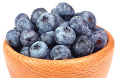 Blueberries. In the wooden bowl Stock Photo