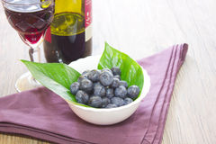 Blueberries. Composition food forest fruit kitchen raspberries salad strawberries tray Royalty Free Stock Photography