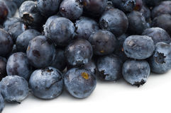 Blueberries. Close-up of a bunch of blueberries on a white background Stock Photo